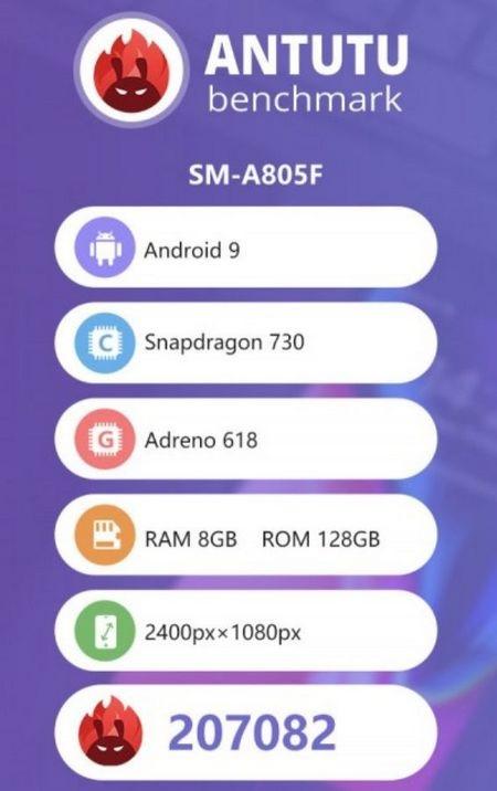 Điểm Antutu Galaxy A80 - điện thoại Samsung tầm trung cấu hình mạnh