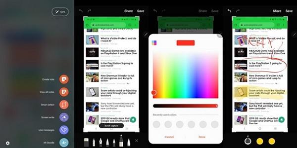 Tổng hợp các cách chụp ảnh màn hình trên Galaxy Note 10, Note 10+