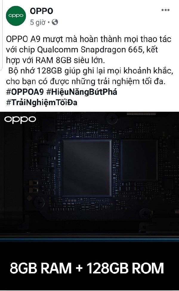 Thông số kỹ thuật OPPO A9