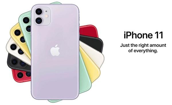 iPhone 11 có 6 màu