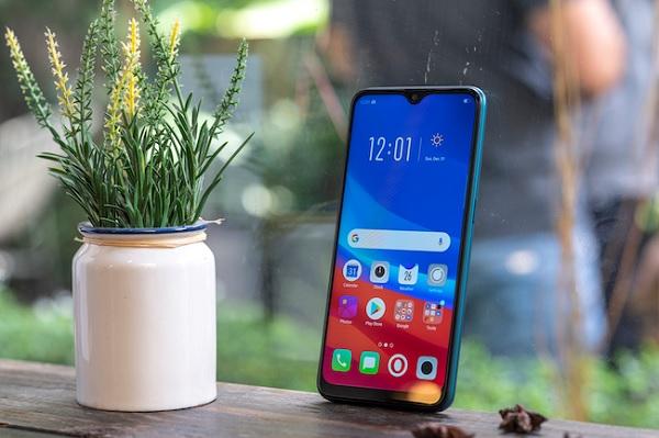 Những hình ảnh mới nhất về chiếc điện thoại Oppo A7 xanh lục bảo 1