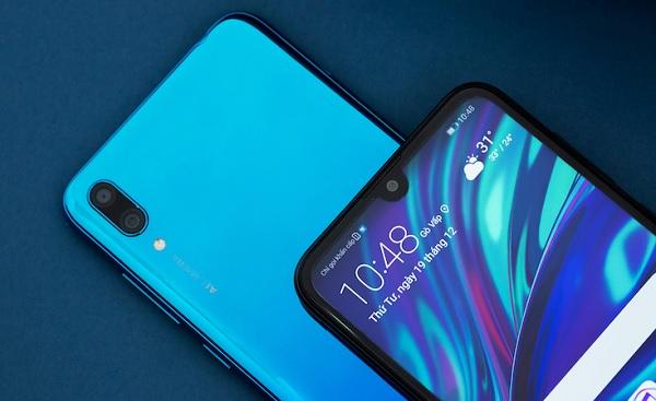 Huawei Y7 Pro 2019 màn hình hiển thị 'giọt nước' form size 6,26 inch