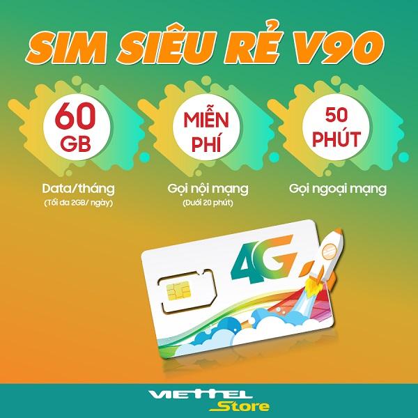 Có nên sử dụng sim siêu rẻ V90: 90K nhận 60GB data và nhiều ưu đãi hấp dẫn