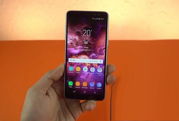 Galaxy A6 có màn hình Super AMOLED sống động