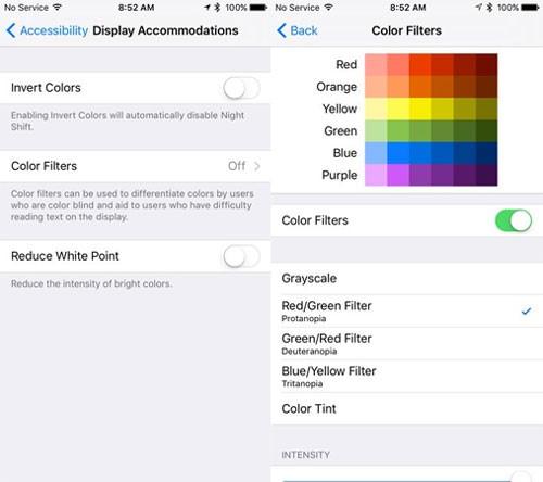 Cách chỉnh màu cho màn hình iPhone hợp mắt nhất