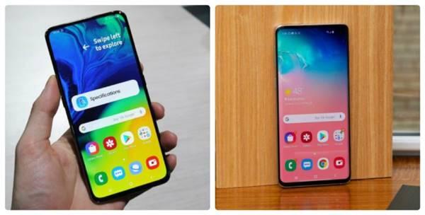 ss Galaxy A80 va Galaxy S10