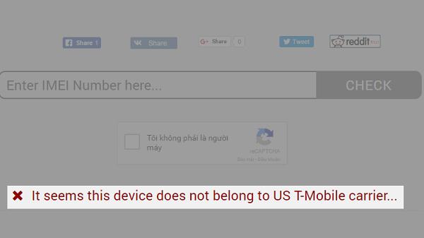 """Nếu như xuất hiện dòng chữ đỏ và dấu """"X"""" chứng tỏ iPhone không thuộc nhà mạng nào"""