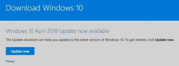 Hướng dẫn cách cập nhật Windows 10 April 2018 ngay từ bây giờ