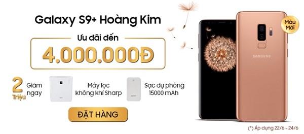 Trên tay Galaxy S9+ Hoàng Kim, phiên bản màu mới dành cho phái nữ