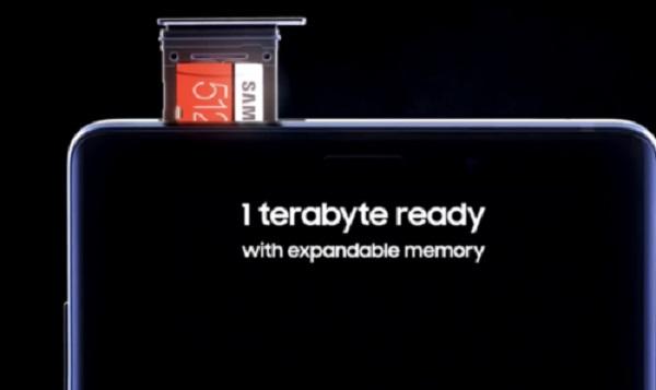Bộ nhớ với dung lượng ấn tượng trên Galaxy Note 9