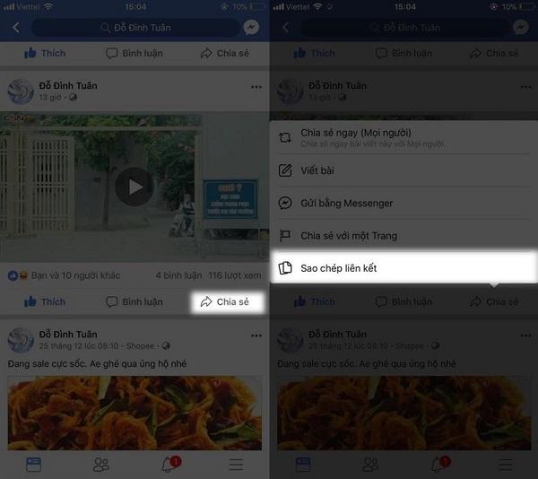 Cách tải video Facebook chất lượng caotrên thiết bị iOS khá đơn giản