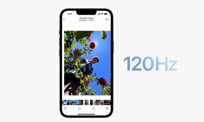 iPhone 13 Pro Max hỗ trợ màn hình thích ứng 120Hz
