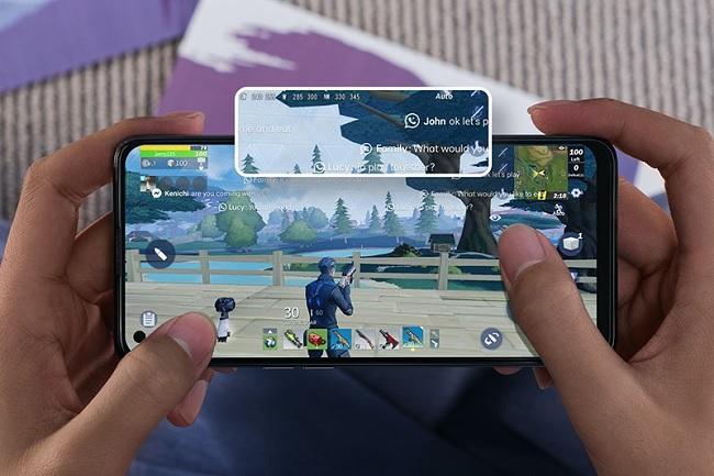 OPPO A74 được tích hợp chế độ tập trung trò chơi giúp người dùng không bị làm phiền bởi các thông báo và cải thiện hiệu năng khi chơi game