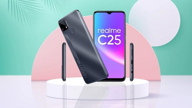 Realme C25 đi kèm màn hình lớn