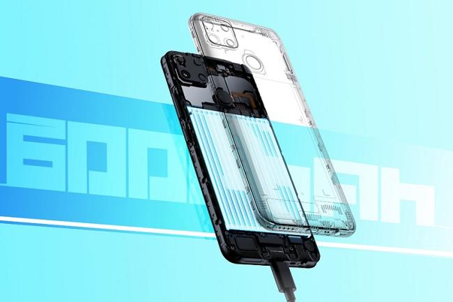 Realme C25s được trang bị pin 6.000 mAh