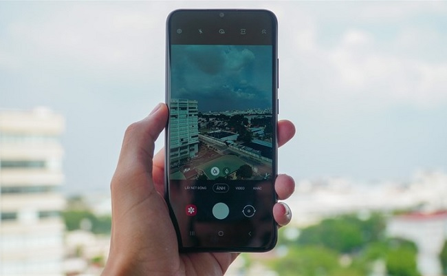 Giao diện camera của Samsung Galaxy A02s