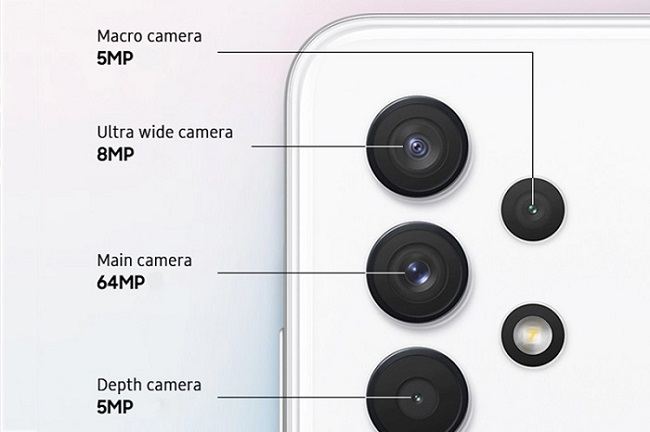 Cụm camera sau trên Galaxy A32 4G