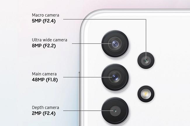 Cụm camera sau trên Galaxy A32 5G