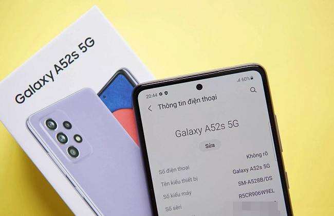 Samsung Galaxy A52s 5G hỗ trợ kết nối 5G