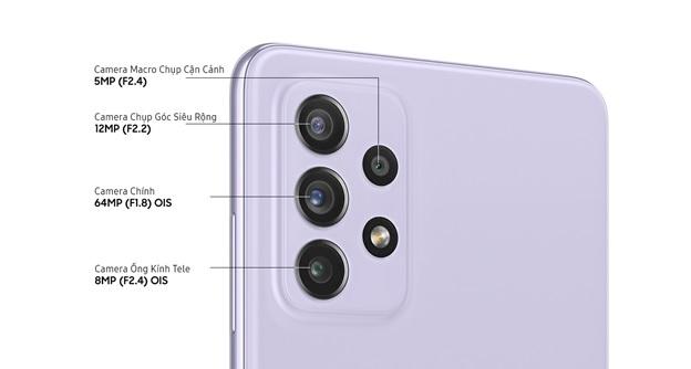 Hệ thống camera sau trên Galaxy A72