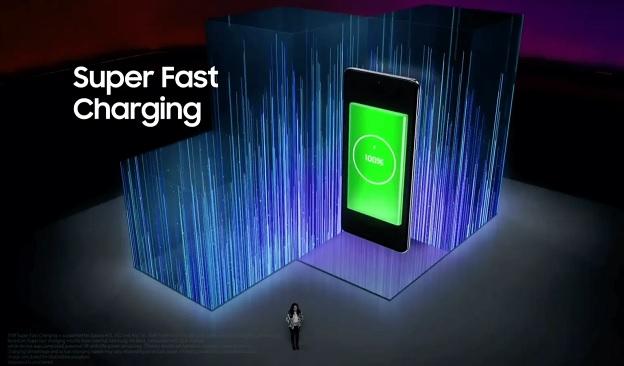 Galaxy A72 được tích hợp công nghệ sạc nhanh siêu tốc 25W