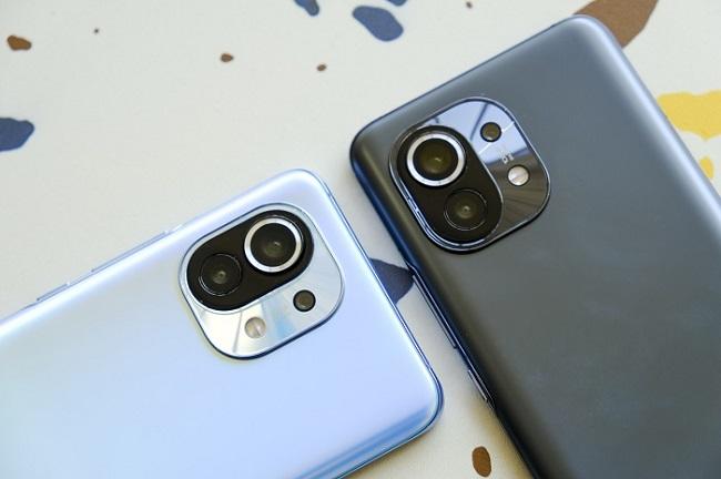 Cận cảnh camera sau trên Xiaomi Mi 11