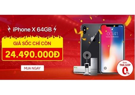 iPhone X 64GB giảm giá hơn 5.000.000 đồng, thời điểm vàng là đây!