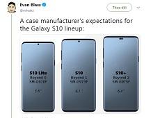 Hé lộ kích cỡ màn hình Galaxy S10, Galaxy S10 Plus, Galaxy S10 Lite cùng các thông số ấn tượng