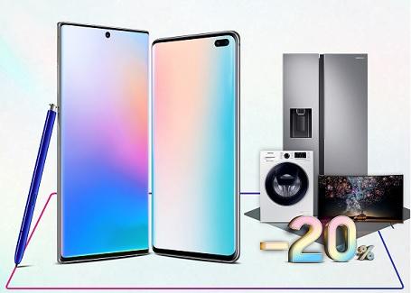 Ưu đãi giảm ngay 20% các sản phẩm điện tử điện lạnh khi mua Galaxy Note 10 |10+ hoặc Galaxy S10+